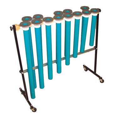 Joia Tubes Professional Series - Chromatic Alto: Heavy-Duty Reinforced Stand, Casters, All-Black Top