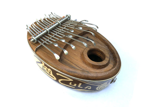 Kalimbas & Sansulas Ka Zula, 15-key Thumb Piano, Natural, with Pickup