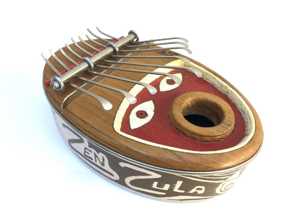 Kalimbas & Sansulas Zen Zula, 9-key Thumb Piano, with Face