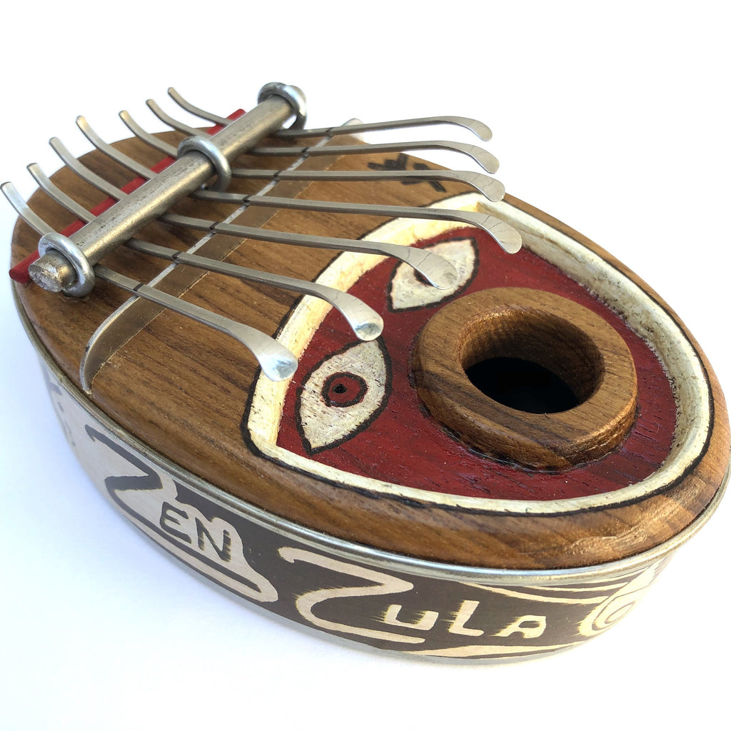 Kalimbas & Sansulas Zen Zula Mini, 7-key Thumb Piano, with Face