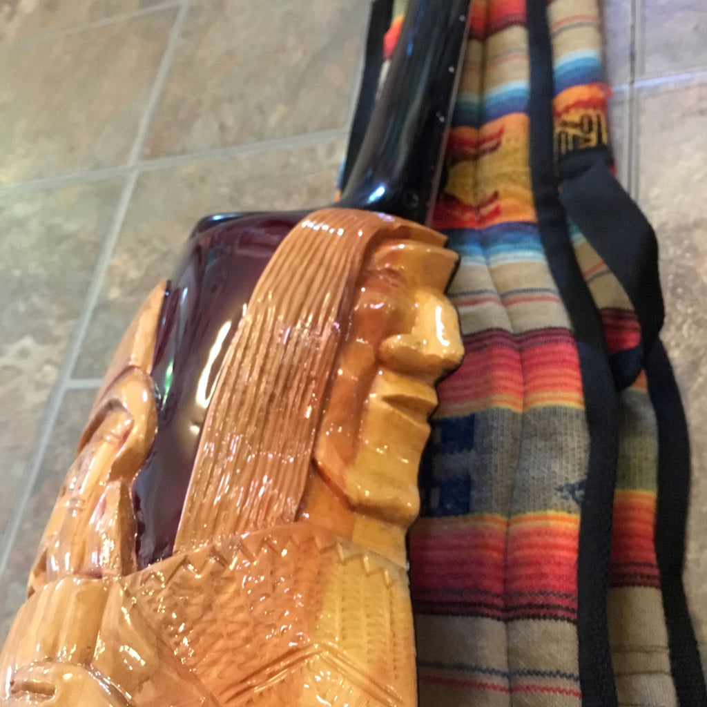Latin Guitars Charango, Carved Faces on Back