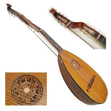 Lutes Bass Lute with case