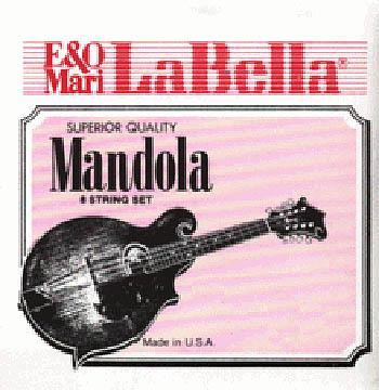 Mandolins Mandola string set, phosphor bronze, loop ends, all wound (2 of each), 1st/.019W, 2nd/.026W, 3rd/.036W, 4th/.044W