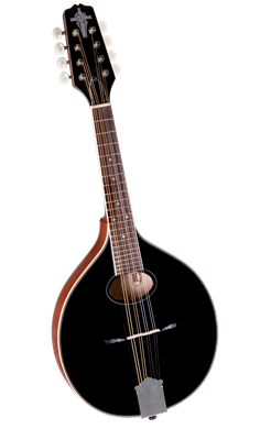 Mandolins Trinity College TM-250B Celtic Mandolin in a Black Finish