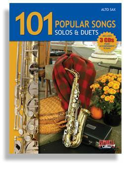 Media 101 Popular Songs for Alto Sax * Solos & Duets * with 3 CDs