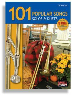 Media 101 Popular Songs for Trombone * Solos & Duets * with 3 CDs
