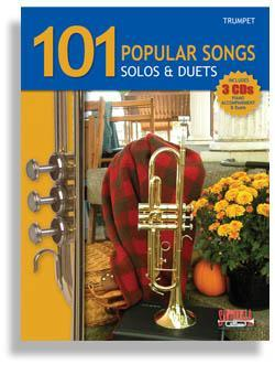 Media 101 Popular Songs for Trumpet * Solos & Duets * with 3 CDs