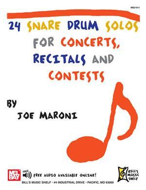 Media 24 Snare Drum Solos for Concerts, Recitals and Contests