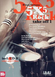 Media 5X5 Rock:  Take Off 1  Book/CD Set