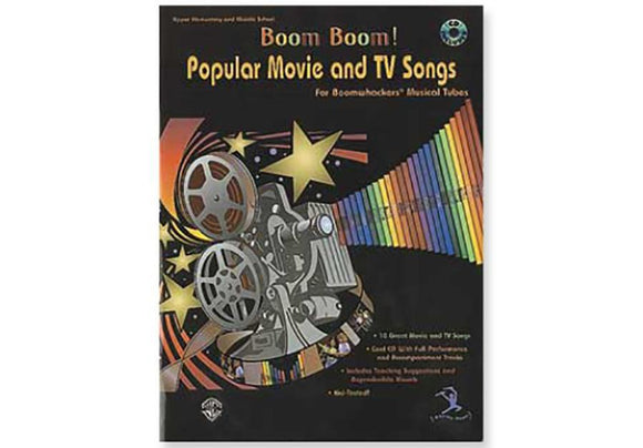 Media BOOM BOOM! Popular Movie and TV Songs Book& CD