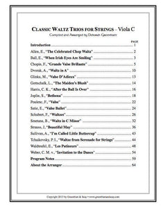 Media Classic Waltz Trios for Strings - Viola C