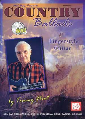 Media Country Ballads for Fingerstyle Guitar  Book/CD Set