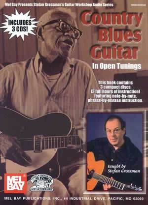 Media Country Blues Guitar in Open Tunings Book/3-CD Set