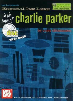 Media Essential Jazz Lines in the Style of Charlie Parker, B-Flat Edition  Book/CD Set