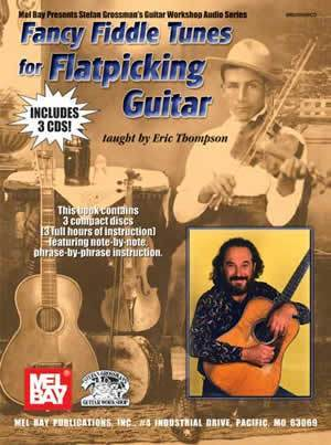 Media Fancy Fiddle Tunes for Flatpicking Guitar  Book/3-CD Set
