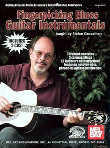 Media Fingerpicking Blues Guitar Instrumentals  Book/3-CD Set