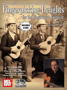 Media Fingerpicking Delights for the Fingerstyle Guitarist Book/3-CD Set