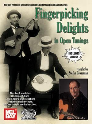 Media Fingerpicking Delights in Open Tunings Book/3-CD Set