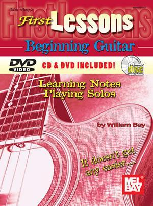 Media First Lessons Beginning Guitar  Book/CD/DVD Set