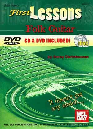 Media First Lessons Folk Guitar  Book/CD/DVD Set