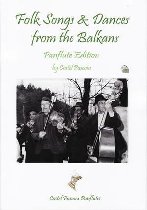 Media Folk Songs & Dances From The Balkans - Pan Flute  Book/CD Set