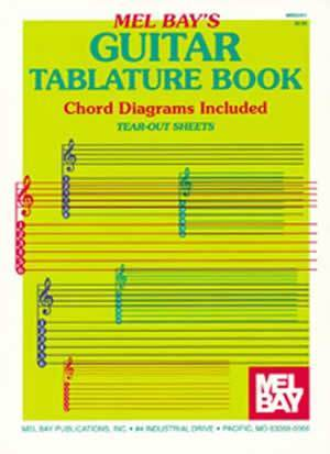 Media Guitar Tablature Book