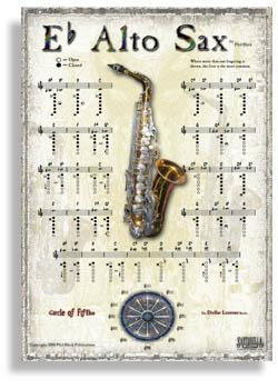 Media Instrumental Poster Series - Alto Sax
