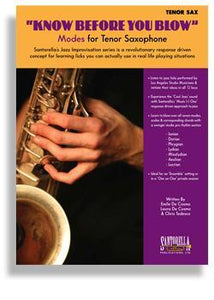 Know Before You Blow - Jazz Modes for Tenor Sax with CD