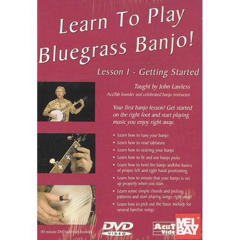 Media Lean to Play Bluegrass Banjo! Lesson 1 - Getting Started