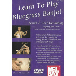 Media Lean to Play Bluegrass Banjo! Lesson 2 - Let's Get Rolling