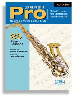 Media Learn From A Pro for Alto Sax with CD