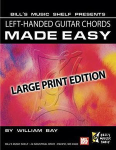 Media Left-Handed Guitar Chords Made Easy, Large Print Edition