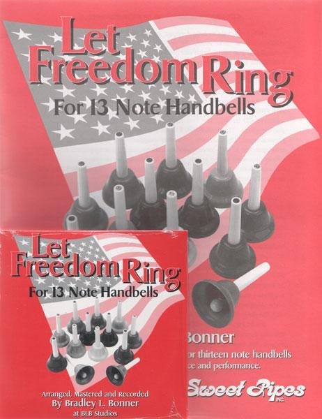 Media Let Freedom Ring Book & CD for 13 note Handbells