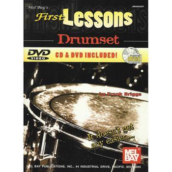Media Mel Bay's First Lessons, Drumset, Book, CD, & DVD
