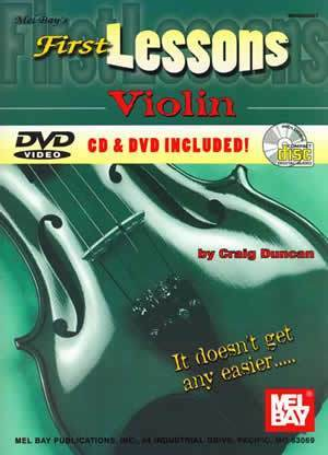 Media Mel Bay's First Lessons, Violin, Book, CD, & DVD