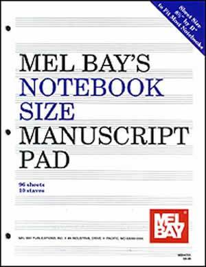 Media Notebook-Size Manuscript Pad 10-Stave