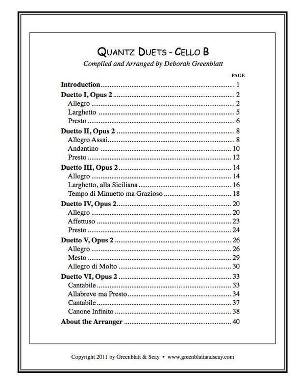 Media Quantz Duets - Cello B