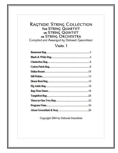 Ragtime String Collection - Parts