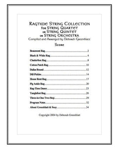 Media Ragtime String Collection - Score