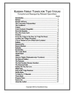 Media Russian Fiddle Tunes for Two Violas