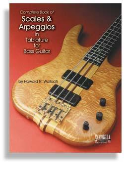 Media Scales & Arpeggios in Tab for Bass