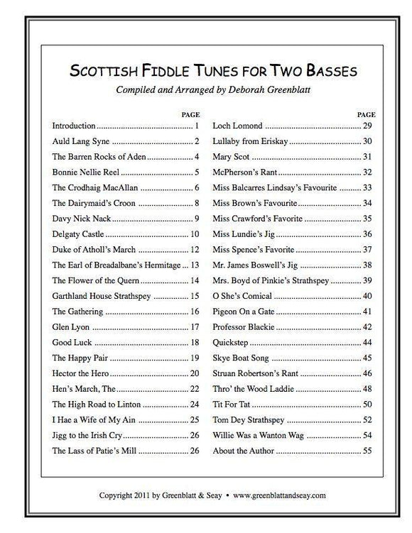 Media Scottish Fiddle Tunes for Two Basses