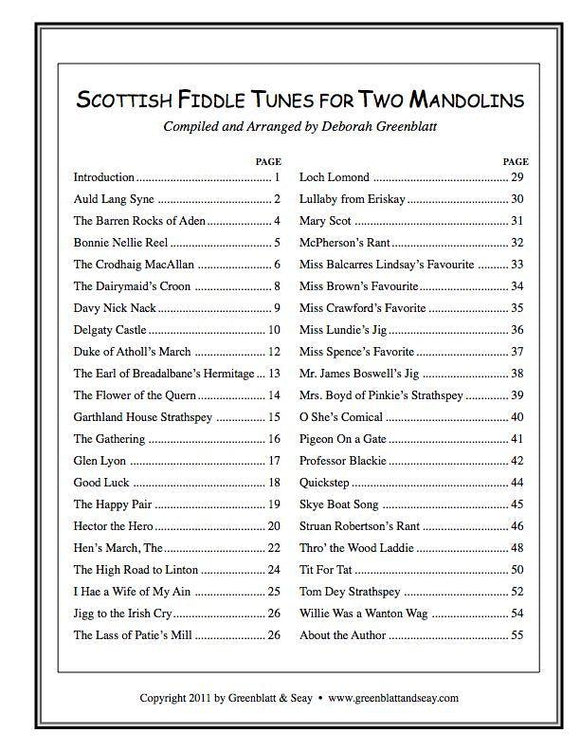 Media Scottish Fiddle Tunes for Two Mandolins
