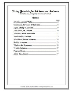 Media String Quartets for All Seasons: Autumn - Parts