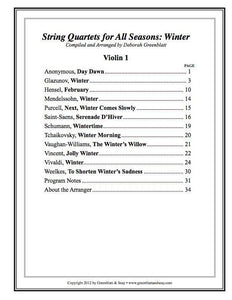 Media String Quartets for All Seasons: Winter - Parts