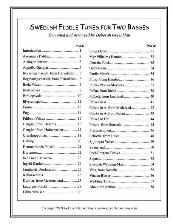 Media Swedish Fiddle Tunes for Two Basses