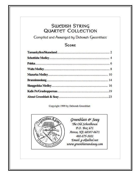 Media Swedish String Quartet Collection - Score