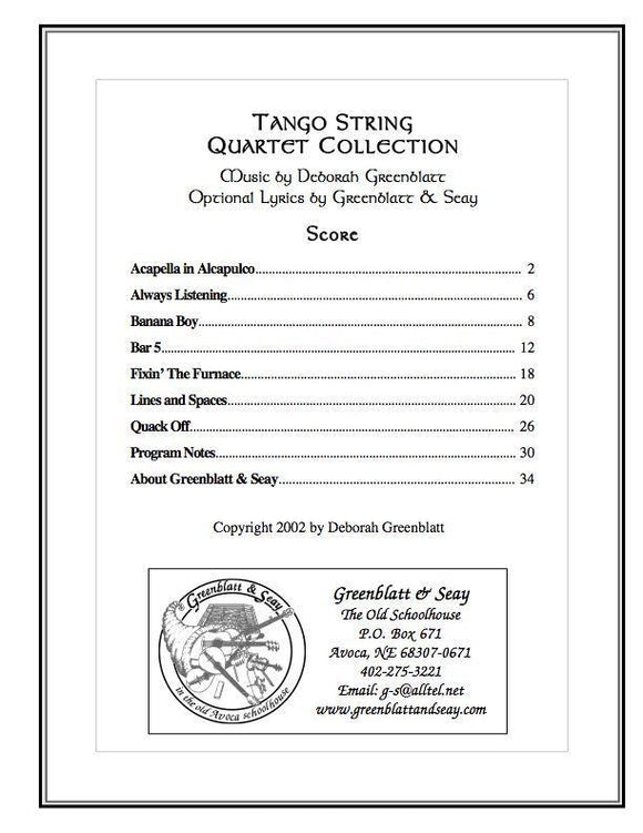 Media Tango String Quartet Collection - Score