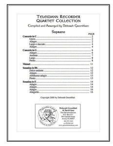 Media Telemann Recorder Quartet Collection - Parts
