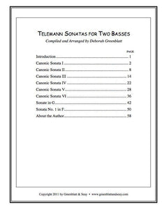 Media Telemann Sonatas for Two Basses